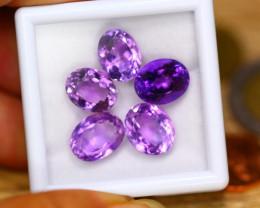 21.30ct Natural Purple Amethyst Oval Cut Lot GW8774
