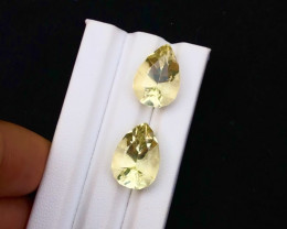 Top Grade 18.25 ct lovely Citrine pair Ring Size