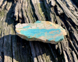 Natural Australian Turquoise, raw slabbed rough.