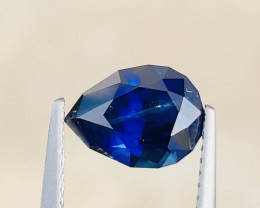 2.6ct GIA certified pear cut unheated royal blue sapphire