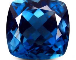 2.88Cts Sparkling Natural London  Blue Topaz Master Cushion Cut Loose Gem