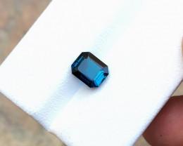 HGTL CERTIFIED 1.63 Ct Natural Blue Indicolite Transparent Tourmaline Gemst