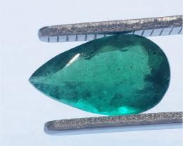 Polished Natural Brazilian emerald – 2.01 ct ( Pear Cut)