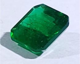 Polished Natural Brazilian emerald – 1.28 ct ( Emerald Cut)