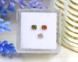 Diamond 0.58Ct 3Pcs Natural Untreated Genuine Fancy Diamond A3319