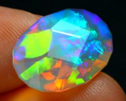 Welo Opal 3.44Ct Master Cut Natural Ethiopian Rainbow Flash Opal A3324
