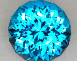 CUSTOM CUT - 4.36ct ELECTRIC BLUE TOPAZ - BRAZIL