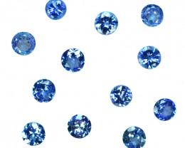 1.85 Cts Natural Purple Blue Tanzanite Round 3.5-3.4mm Calibrated