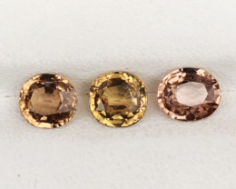 4.900 CT ZIRCON FANCY COLORS 3 PC 100% NATURAL UNHEATED