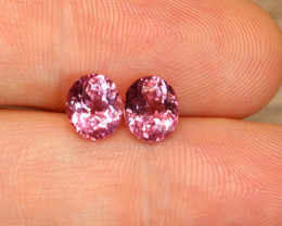 Tajik Spinel Matched Oval Pair