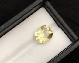 Top Grade 5.55 ct Light Color Citrine Ring Size