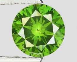 1.06 Ct Green Diamond Sparkling Luster Vivid Color BGB3