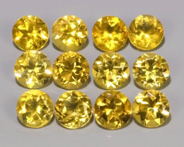 5.75 Cts Ravishing Natural Golden~Yellow Citrine Round Cut Gemstone!!