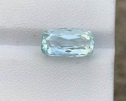 Top 3.84 Cts Natural Aquamarine Gemstone Good Luster