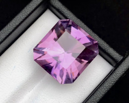Top Grade 23.70 cts faceted Cut Better Size of Natural Amethyst Ring Size R
