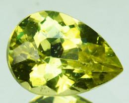 1.74 Cts Shimmering Natural Olive Green Apatite Brazil Gem
