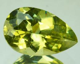 2.24 Cts Shimmering Natural Olive Green Apatite Brazil Gem