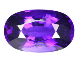 35.85 Cts NATURAL AMETHYST - TOP PURPLE - OVAL - URUGUAY