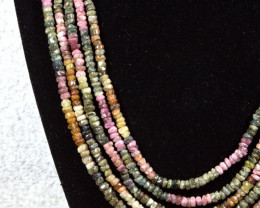 350.5 Tcw. Tourmaline 18 Inch Adjustable Necklace - Elegant