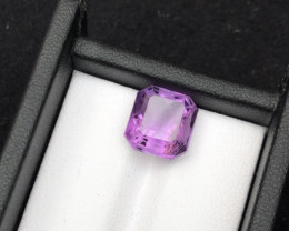 Top Grade Spider Cut 5.40 cts of Natural Amethyst Ring Size