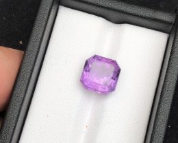 Top Grade Spider Cut 5.10 cts of Natural Amethyst Ring Size AB