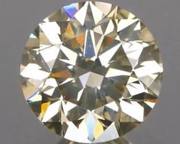 *NR*Brilliant Cut Ash Champagne Diamond 0.70Ct NO TREATMENT