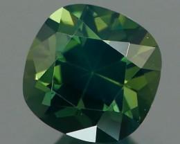 *NR* Teal Blue Green Sapphire Square Cushion 0.93Ct