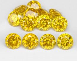 *NoReserve*Diamond 1.06 Cts 13Pcs Sparkling Intense Calary Yellow Natural