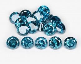 Diamond 0.61 Cts 6Pcs Sparkling Intense Blue Natural