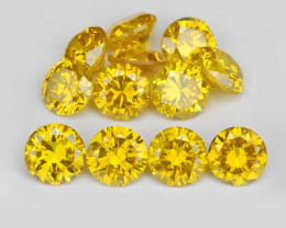 *NoReserve*Diamond 1.24 Cts 14Pcs Sparkling Vivid Canary Yellow Natural