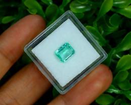 Muzo 1.29Ct Natural Colombian Emerald Neon Mint Green Beryl B3401