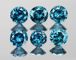 *NoReserve*Diamond 0.44 Cts 6pcs 2.25mm Sparkling Fancy Blue Color Natural