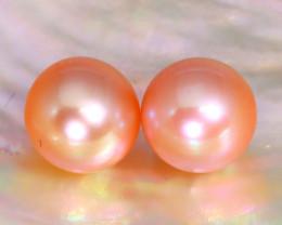 8.2mm 7.82Ct Natural Australian South Sea Orange Color Pearl B3426
