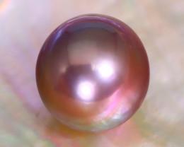 12.1mm 12.93Ct Natural Tahitian Golden Black Pearl B3434