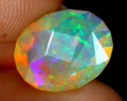 Welo Opal 1.82Ct Master Cut Natural Ethiopian Neon Flash Welo Opal B3437