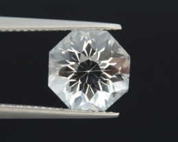Natural White Topaz 4.87 Cts, Precision Cut, Top Luster
