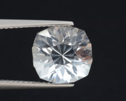 Natural White Topaz 5.40 Cts, Precision Cut, Top Luster