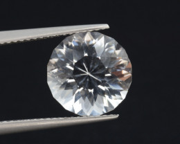 Natural White Topaz 5.71 Cts, Precision Cut, Top Luster