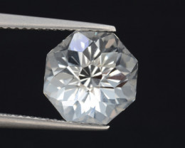 Natural White Topaz 6.22 Cts, Precision Cut, Top Luster