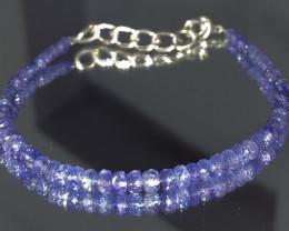 natural Tanzanite gemstone bracelet 447