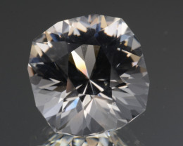 Natural White Topaz 11.38 Cts, Precision Cut, Top Luster