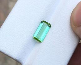 1.30 Ct Natural Green Transparent Tourmaline Ring Size Gemstone