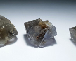 Amazing Natural color gemmy quality 3 Fluorite Crystals  234Cts-P