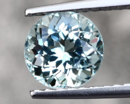 3.90 CTS AWESOME FLAWLESS ROUND  NATURAL AQUAMARINE