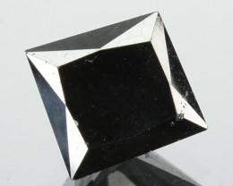 1.23 Cts Natural Coal Black Diamond Square Princess Africa