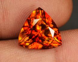 9.18 Cts Natural Sphalerite Sunset Orange Trillion Spain