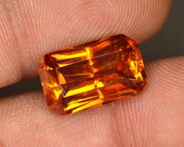 8.95 Cts Natural Sphalerite Sunset Orange Octagon Spain