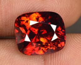 10.93 Cts Natural Sphalerite Reddish Orange Cushion Spain