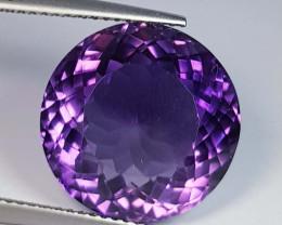13.39 ct  Top Quality Gem  Round Cut Natural Purple Amethyst