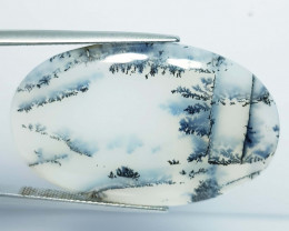 28.59 ct Natural Dendrite Opal Oval Cabochon  Gemstone